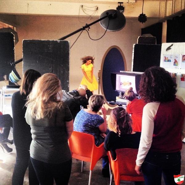 Photo of ميريام فارس قضت  يوم التصوير بفستان أصفر مميز